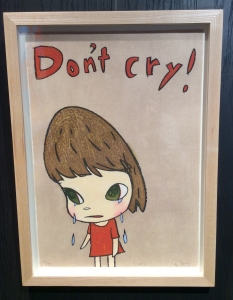 Title : Don't Cry Size : 420mm×295mm woodcut Signed at the lower right